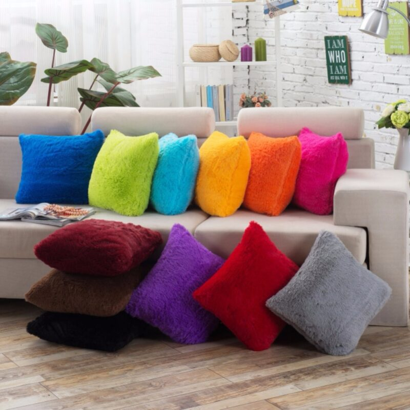 Use Plush and Colorful Pillow Cover