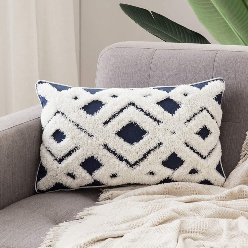 Try Tufted Tribal Throw Pillow