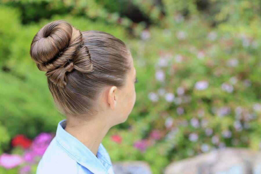 Bow Bun hairstyle girl