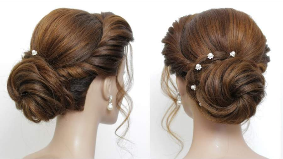 Chignon Hair Bun Hairstyle Girl