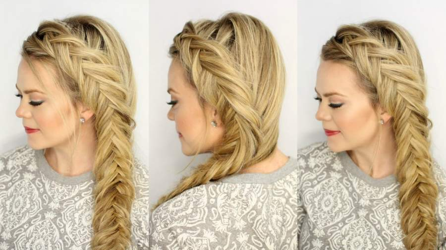 Dutch Fishtail Braid Hairstyle Girl